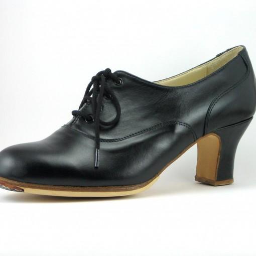 Zapato Flamenco Negro cordones 1